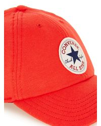 Converse - Red Snapback Cap for Men - Lyst