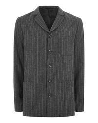Topman | Design Gray Pinstripe Blazer for Men | Lyst