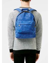 TOPMAN - Mi-pac Royal Blue Backpack* for Men - Lyst