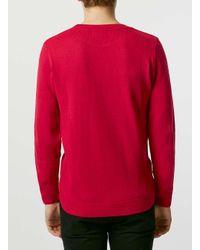 Topman - The London Knitwear Company Red Jumper* for Men - Lyst