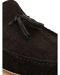 Topman - Black Suede Tassel Loafers for Men - Lyst