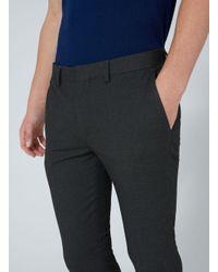 Topman Gray Super Skinny Fit Smart Trouser for men