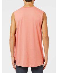 Topman - Blue Pink Oversized Tank Vest for Men - Lyst