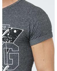 TOPMAN - Gray Black San Francisco Print Roller T-shirt for Men - Lyst