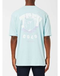Topman - 49 Palms Blue Icy Cold Print T-shirt for Men - Lyst