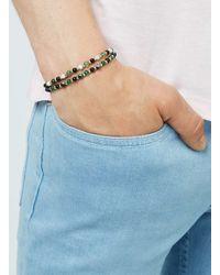 TOPMAN - Metallic Gold And Green Beaded Stretch Bracelet Pack* for Men - Lyst