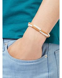 TOPMAN - Blue Brown And Cream Leather Cord Bracelet* for Men - Lyst