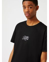 Topman | Sixth June Black Longline T-shirt for Men | Lyst