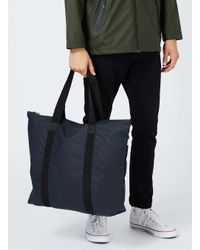 Rains - Rains Blue Tote Bag for Men - Lyst