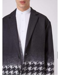 Topman - Blue Rogues Of London Black And Jumbo Dogstooth Overcoat for Men - Lyst