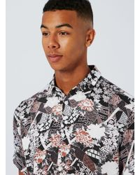 SELECTED - Red Selected Homme Floral Abstract Print Stretch Fit Shirt for Men - Lyst