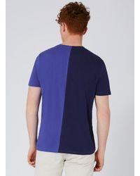 Topman - Blue Navy Mickey Mouse Spliced T-shirt for Men - Lyst