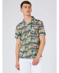 Topman - Multicolor Heron Print Short Sleeve Casual Shirt for Men - Lyst