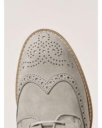 Topman - Gray Grey Nubuck Arch Brogue for Men - Lyst