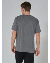 Topman - Gray Dr Denim Grey 'russ' Organic Cotton T-shirt for Men - Lyst