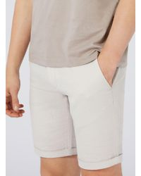 SELECTED - Brown Stone Ribbed Slim Shorts for Men - Lyst