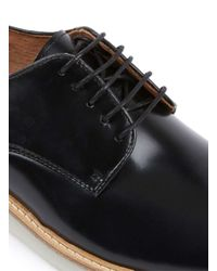TOPMAN - Union Black Derby Shoes for Men - Lyst