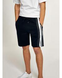 Topman - Blue Navy Side Stripe Jersey Shorts for Men - Lyst