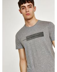 SELECTED - Gray Grey Abstract Printed T-shirt for Men - Lyst