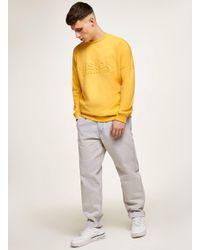 Topman - Vision Street Wear Yellow Embossed Super Sweatshirt for Men - Lyst