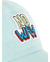 Topman - Blue Aqua No Way Badge Cap for Men - Lyst