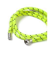 Topman - Yellow Abseil Bracelet for Men - Lyst
