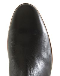 Topman - Black Leather Chelsea Boot for Men - Lyst