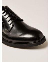 Topman - Black Premium Leather Orpin Derby Shoe for Men - Lyst