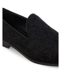 Topman - Black Velvet Tassel Loafers for Men - Lyst