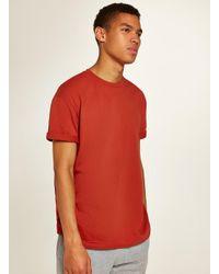 65a3a7c1 TOPMAN Rust Oversized Roller T-shirt in Orange for Men - Lyst
