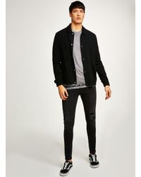 Topman - Pink Burnout Fabric Short Sleeve Top for Men - Lyst