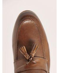 Topman - Brown Tan Leather Rigel Tassel Loafer for Men - Lyst