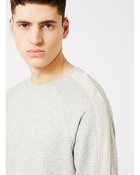 Topman - Gray Studio 53 Grey Marl Sleeve Stripe Sweatshirt* for Men - Lyst