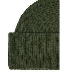 Topman - Green Olive Fisherman Beanie for Men - Lyst