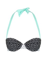 TOPSHOP - Multicolor Polka Dot Print Bikini Top - Lyst