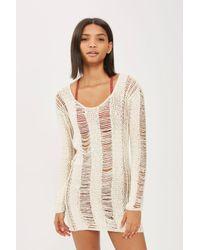 Flook - Natural Zanti Laddered Beach Dress By Flook - Lyst
