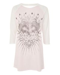 TOPSHOP | Pink Sacred Heart Tunic | Lyst