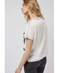 TOPSHOP | Black Stone Roses Tee By And Finally | Lyst