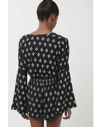 TOPSHOP - White Indian Print Blouse By Band Of Gypsies - Lyst