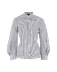 TOPSHOP | Gray Extreme Cuff Tie Back Shirt | Lyst