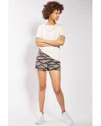 TOPSHOP | Multicolor Matchstick Print Shorts | Lyst