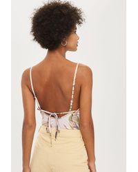 TOPSHOP Multicolor Flamingo Print Bodysuit