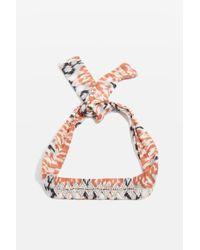 TOPSHOP | Multicolor Zigzag Print Necktie | Lyst