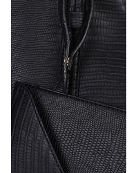 TOPSHOP - Black Large Snake Shopper Bag - Lyst