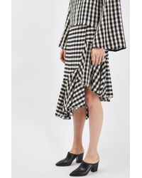 TOPSHOP - Black Deep Ruffle Skirt By Boutique - Lyst