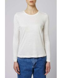 TOPSHOP - White Tiny Bobble Tee By Boutique - Lyst