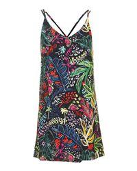 TOPSHOP | Multicolor Petite Jungle Print Slip Dress | Lyst