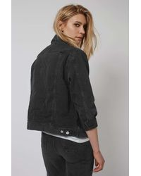TOPSHOP - Black Petite Oversize Western Jacket - Lyst