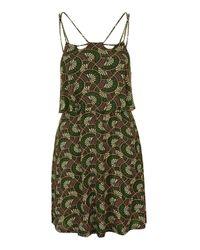 TOPSHOP   Black Crochet Trim Patchwork Sundress   Lyst