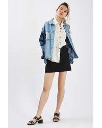 TOPSHOP - Black Petite Crepe Pocket Mini Skirt - Lyst